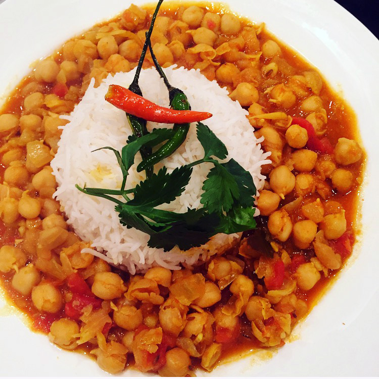 Chana Masala or Chick Peas with Spices